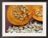 Sliced Pumpkin with Pumpkin Seeds (Cucurbita Sp) Europe Print by  Reinhard