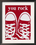 You Rock Red Sneakers Prints by Lisa Weedn