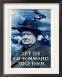 WWII RAF Churchill Spitfire Prints