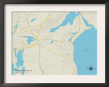 Political Map of Narragansett Pier, RI Prints
