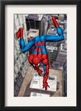 Spider-Man Above the City, Crawling on Web Art