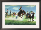 Western Americana - Rodeo Scenes, View of Tex Crockett on Bucking South Dakota, c.1939 Art