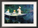 Women Fishing Print by Claude Monet