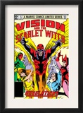 Vision And The Scarlet Witch 4 Cover: Magneto, Vision, Scarlet Witch, Quicksilver and Crystal Art by Rick Leonardi