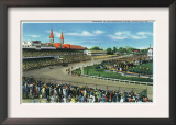 Louisville, Kentucky - General View of Crowds at the Kentucky Derby, c.1939 Art