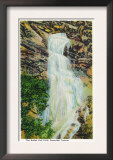 Black Hills, South Dakota - View of Bridal Veil Falls in Spearfish Canyon, c.1937 Print
