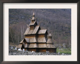 Borgund Stave Church, Laerdalen, Norway Print by Niall Benvie