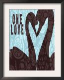 Swan Silhouette One Love Print by Lisa Weedn