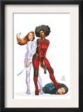 Daughters Of The Dragon 1 Cover: Night, Misty, Wing, Colleen and NightWing Restorations Fighting Posters by Khari Evans