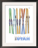 Park City, Utah, Skis in the Snow Posters