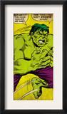 Marvel Comics Retro: The Incredible Hulk Comic Panel (aged) Poster