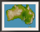 Continent of Australia Prints by Stocktrek Images 
