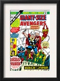 Giant-Size Avengers 1 Cover: Thor, Captain America, Iron Man, Vision and Scarlet Witch Charging Art by Rich Buckler