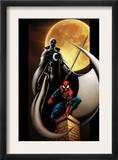 Ultimate Spider-Man 80 Cover: Spider-Man and Moon Knight Posters by Mark Bagley