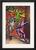 Exiles 5 Group: Vision, Ultron and Machine Man Poster by Casey Jones