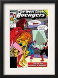 Avengers West Coast 42 Cover: Scarlet Witch, Tigra, Wonder Man, Hawkeye and West Coast Avengers Art by John Byrne