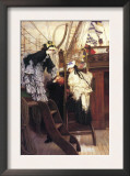 Entry To The Yacht Prints by James Tissot