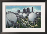 Beaumont, Texas - General View of the World's Largest Petroleum Butadiene Plant, c.1948 Print