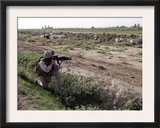 Soldier Scans the Distance with His Rifle's Scope While on a Knock-And-Talk Patrol in Zaidon, Iraq Prints by  Stocktrek Images