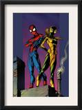 Ultimate Spider-Man 91 Cover: Shadowcat and Spider-Man Print by Mark Bagley