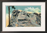 Mount Rushmore Nat'l Park, South Dakota - View of the Memorial, c.1937 Art
