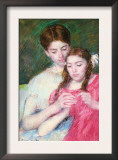 Woman and Girl Prints by Mary Cassatt
