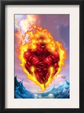 Human Torch 11 Cover: Human Torch Print by Howard Porter