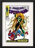 The Amazing Spider-Man 62 Cover: Spider-Man and Medusa Fighting Prints by John Romita Sr.
