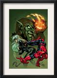 Marvel Knights Spider-Man 10 Cover: Spider-Man, Black Cat and Green Goblin Print by Terry Dodson