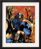 Ultimate War 3 Group: Thor and Captain America Poster by Chris Bachalo