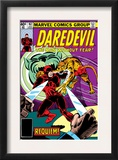 Daredevil 162 Cover: Daredevil Fighting Prints by Steve Ditko
