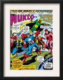 Giant-Size Avengers 1 Group: Iron Man, Captain America, Thor, Vision and Scarlet Witch Print by Rich Buckler