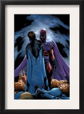 Ultimate Fantastic Four 22 Cover: Magneto and Mr. Fantastic Poster by Greg Land