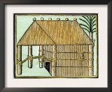 Native House on Hispaniola, c.1500 Posters