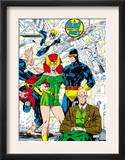 X-Men 1 Pin-up Group: Blast From The Past, Original X-Men Print by Jim Lee