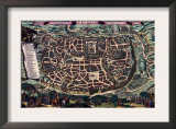 Solomon's Temple - Jerusalem Prints by Braun Hogenberg