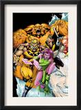 Exiles 60 Cover: Sabretooth, Blink, Sasquatch and Beak Posters by James Calafiore