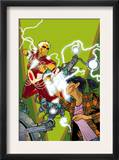 Warlock 4 Cover: Adam Warlock, Chin and Janie Prints by Charlie Adlard
