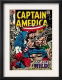 Marvel Comics Retro: Captain America Comic Book Cover 106, Cap Goes Wild (aged) Prints