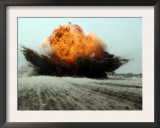 An Explosion Erupts from the Detonation of a Weapons Cache Prints by  Stocktrek Images