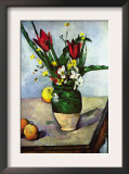 The Vase of Tulips, c. 1890 Posters by Paul Cézanne