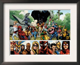 Secret Invasion 1 Group: Captain America, Spider-Man and Vision Prints by Leinil Francis Yu
