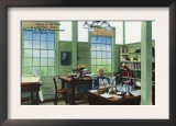 Fort Myers, Florida - T. Edison Winter Home, View of Edison at His Desk in Laboratory Office Posters