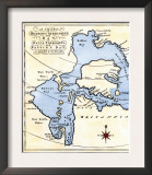 Early Map of Hudson's Strait and Hudson's Bay, 1662, in Arctic Canada Posters
