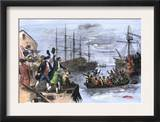 Colonials Destroy British Cargo of Tea in Boston Harbor, 1773, Known as the Boston Tea Party Prints