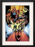 Marvel Team-Up 12 Group: Titannus, She-Hulk, Spider-Man, Dr. Strange, Warbird, Nova and Wolverine Prints by Paco Medina