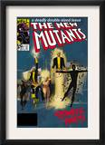 The New Mutants 4 Cover: Sunspot, Cannonball, Magik, Magma, Wolfsbane and New Mutants Prints by Bill Sienkiewicz