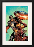 Ultimate Avengers 2 Cover: Hawkeye and Captain America Posters by Carlos Pacheco