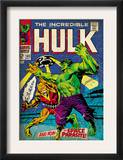 Marvel Comics Retro: The Incredible Hulk Comic Book Cover 103, with the Space Parasite (aged) Prints
