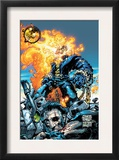 Ghost Rider V3 6 Cover: Ghost Rider and Gunmetal Gray Posters by Trent Kaniuga